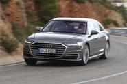 Audi A8 cornering