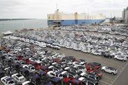 Cars at port