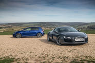 Price match promise: Volkswagen Golf R vs. first-gen Audi R8