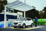 Hyundai ix35 Fuel Cell filling up