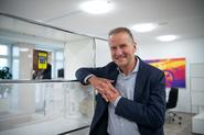 Volkswagen boss Herbert Diess talks to Autocar