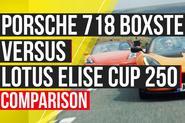 Porsche 718 Boxster S vs Lotus Elise Cup 250 Autocar video