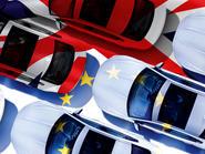 EU flag Union Jack cars