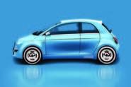 Fiat 500 EV render - side