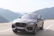 Jaguar F-Pace catches air