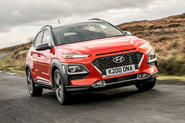 Hyundai Kona front three-quarters