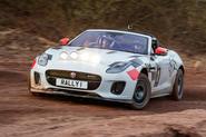 Jaguar F-Type rally car 2019 driven - Dan Prosser front