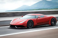 2020 Koenigsegg supercar render - rolling shot