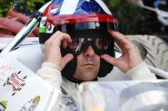 Dario Franchitti prepares to race
