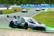 Aston Martin Vantage DTM racer cornering - front