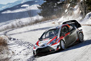 Jari-Matti Latvala guided his new Yaris WRC to the podium
