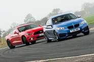 Ford Mustang and BMW M235i