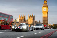 Porsche 919 Hybrid LMP1 car gets shown off in London