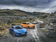 Alpine A110 vs Abarth 124 Spider vs Ford Focus RS