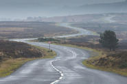 Empty British B-road
