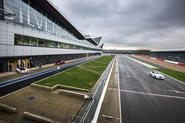 Jaguar cars testing at Silverstone