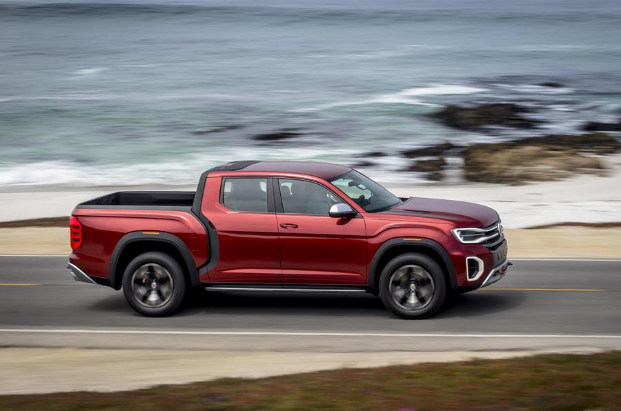 First drive: Volkswagen Atlas Tanoak pick-up concept   Autocar