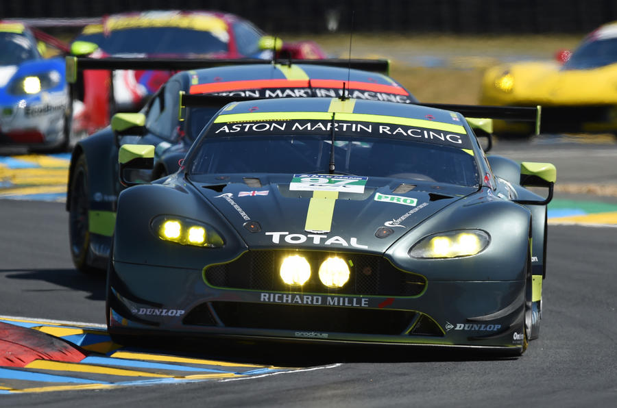 how aston martin claimed le mans glory in a final lap thriller autocar. Black Bedroom Furniture Sets. Home Design Ideas