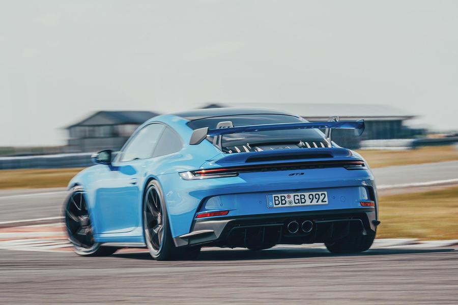 3 porsche 911 gt3 2021 uk first drive review hero rear