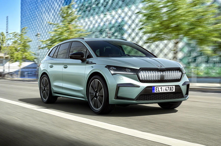 6 skoda enyaq official reveal tracking front