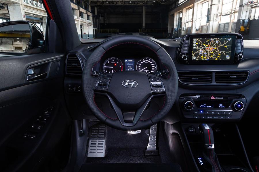 Hyundai Tucson N Line dévoilée avec un châssis renforcé, un style plus sportif 91 hyundai tucson n line 2019 reveal dashboard