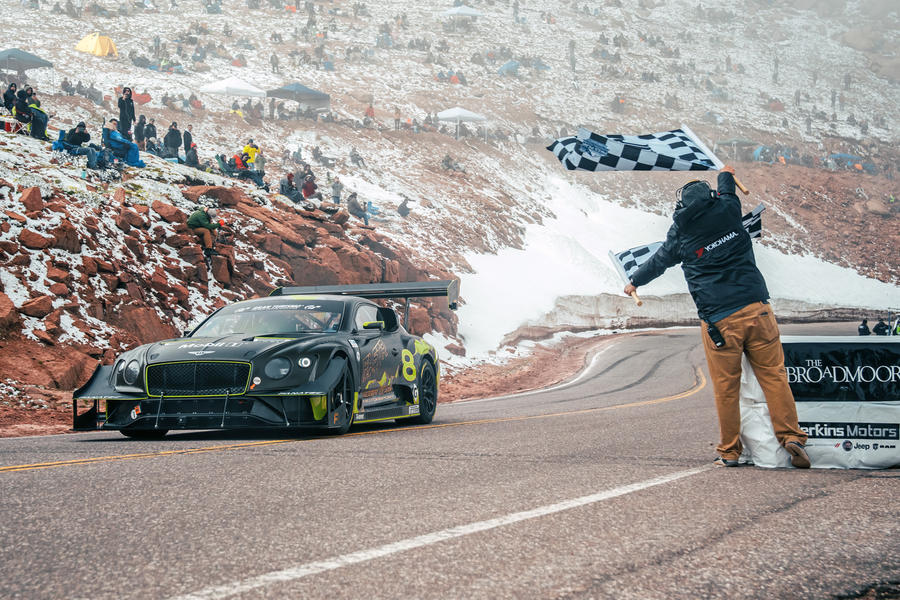 94 bentley continental gt3 pikes peak synthetic fuels finish line