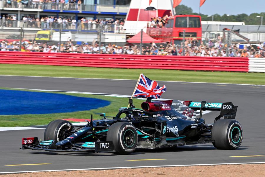 98 racing lines hamilton verstappen flag