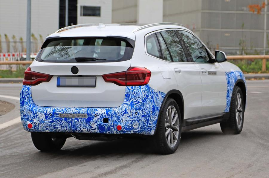 BMW iX3 electric SUV spotted in near-production guise ...