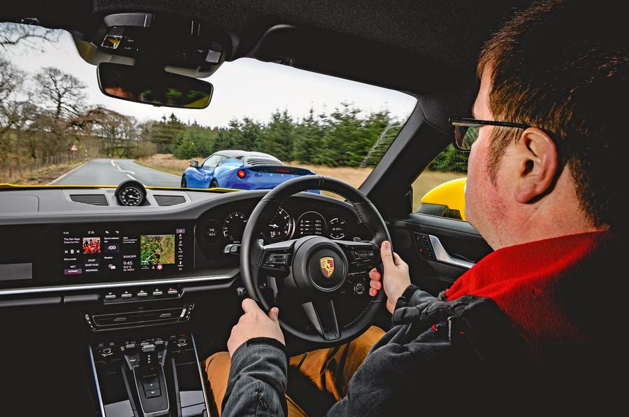 New Porsche 911 vs Audi R8 V10 vs Lotus Evora GT410 | Autocar