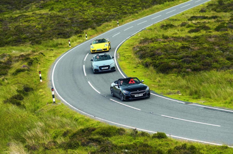 Convertible clash: New BMW Z4 vs Porsche Boxster and Audi ...