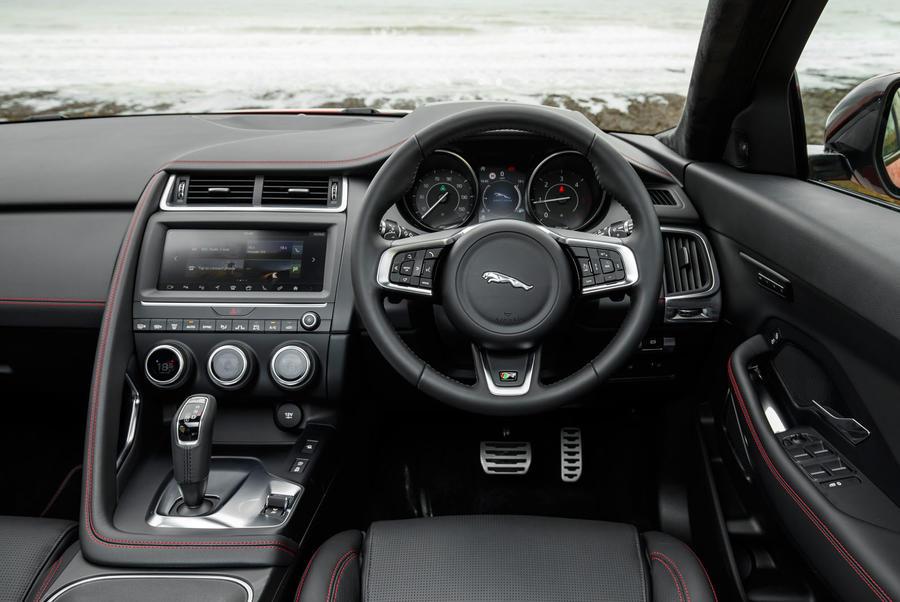 jaguar e pace d180 awd r dynamic 2017 review autocar. Black Bedroom Furniture Sets. Home Design Ideas