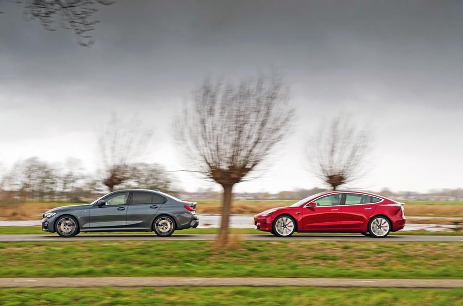 Épreuve de force berline: 2019 Tesla modèle 3 vs nouvelle BMW Série 3 luc 3216