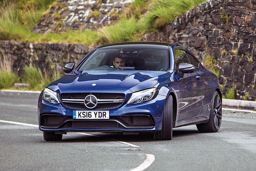 Mercedes C63 blue