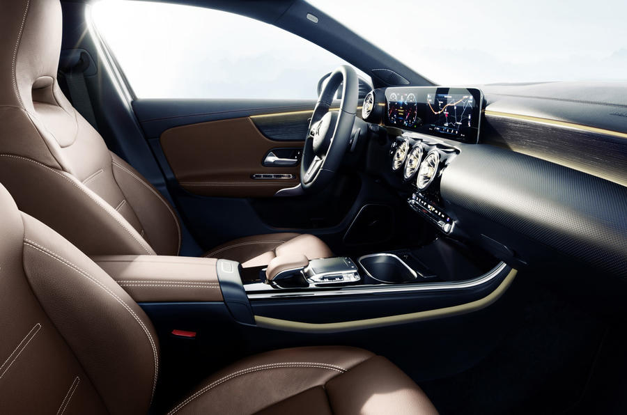 mercedes benz showcases new a class 39 s 39 luxury 39 interior autocar. Black Bedroom Furniture Sets. Home Design Ideas
