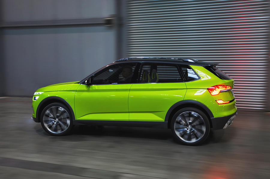 skoda vision x concept first drive of hybrid cng crossover autocar. Black Bedroom Furniture Sets. Home Design Ideas