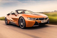 BMW i8 Roadster 2018 UK first drive review - hero front