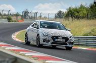 Hyundai i30 Fastback prototype official photo Nurburgring 1