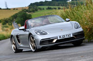 1 Porsche Boxster 25 years edition 2021 uk fd hero front