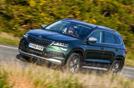 Skoda Karoq Scout 2019 first drive review - hero front