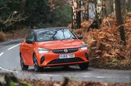 2020 Vauxhall Corsa road test - cornering front