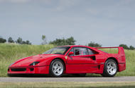 A Ferrari F40 formerly owned by David Gilmour