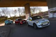 Mini Electric vs Peugeot e-208 vs Renault Zoe