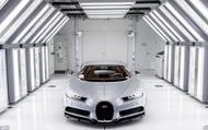 Bugatti factory paint room