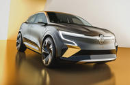 Renault Megane eVision concept official images - studio front