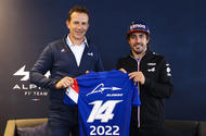 Alpine boss Laurent Rossi and Alonso