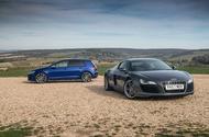 Audi R8 contre Volkswagen Golf R