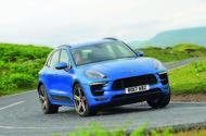 2017 Porsche Macan S road test review - cornering front