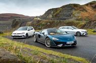 McLaren 570GT vs Volkswagen Golf GTI vs Mercedes-Benz E-Class Estate