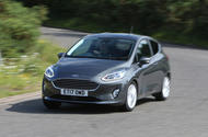 2017 Ford Fiesta cornering - front