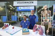 Greenpeace protests outside Volkswagen UK headquarters